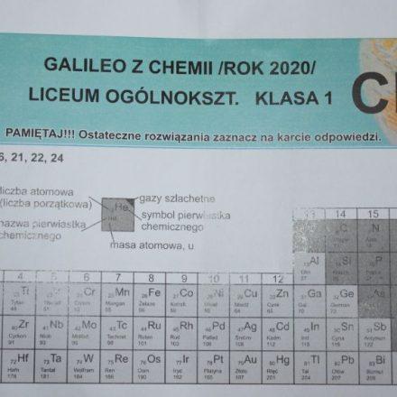 Ogólnopolski konkurs chemiczny Galileo 2020